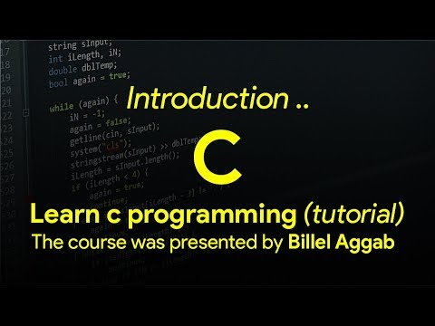 1 - Introduction to c programming [ Learn C in Arabic ]