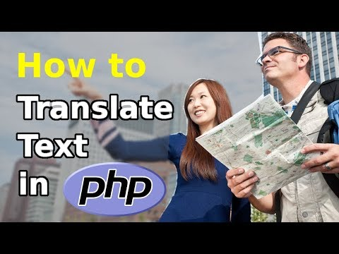 How to translate text in Php