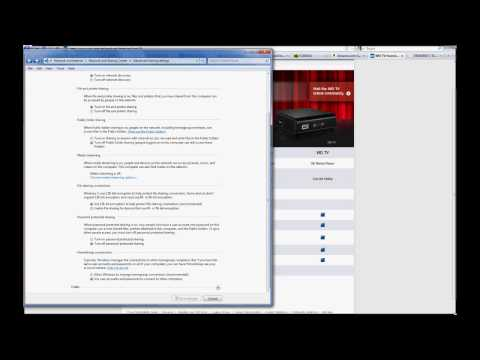 Enable Network Shares on WD TV Live & Windows 7 and 8 Pro 64-bit