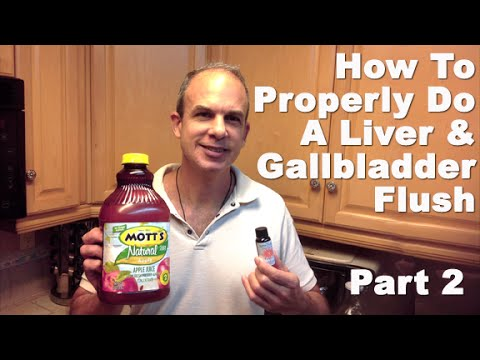 Liver Flush Gallbladder Cleanse - BEST Liver Flush Method To Get Rid Of Gallstones PART 2