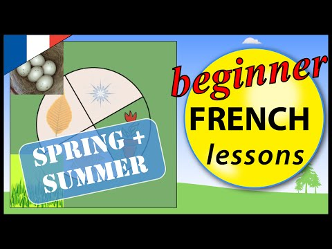 Spring and Summer in French | Beginner French Lessons for Children | the Seasons 1