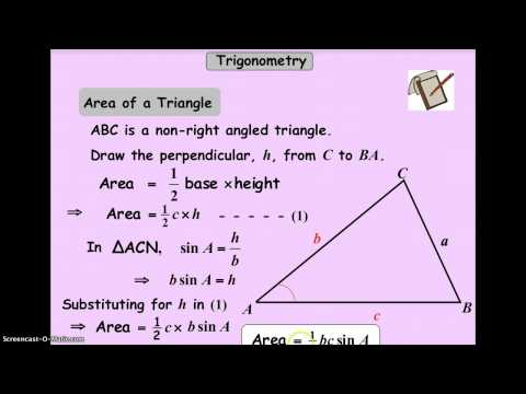 CIC Area of A Non Right Angled Triangle