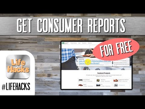 Get Consumer Reports Subscription for FREE - Reviews on products #lifehacks