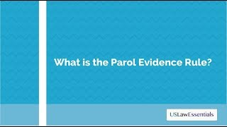 Download What is the parol evidence rule? Video