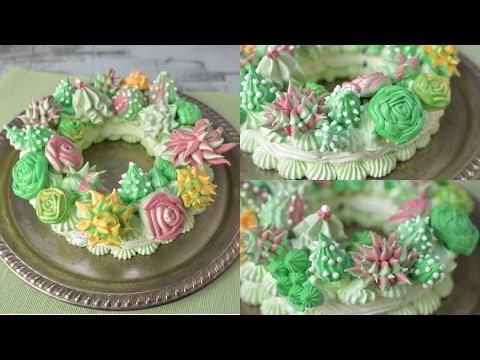 SUCCULENT MERINGUE WREATH CAKE, HANIELA'S