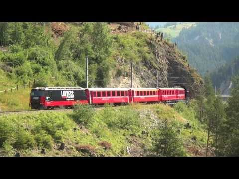 Glacier Express from Zermatt to St.Moritz