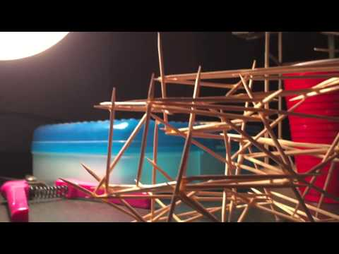 Toothpick Tower Marble Track