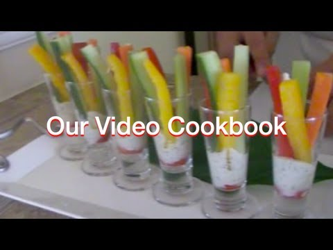 How to make Micro Crudités - Finger Food Recipe | Our Video Cookbook #100
