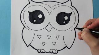 Como Dibujar Buho Kawaii Paso A Paso Dibujos Kawaii Faciles How