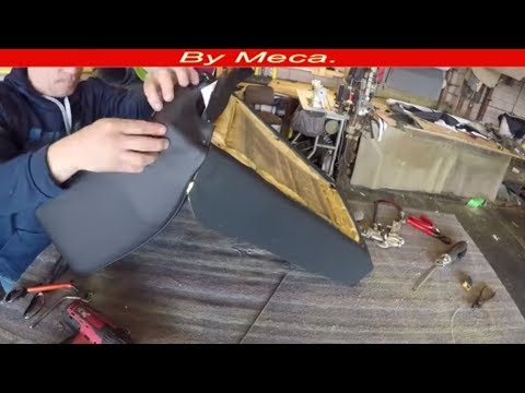 How to Upholster A Bucket Seat. | How to Install the  Seats covers. Auto Upholstery. DIY.