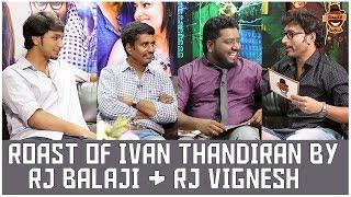 Rj Balaji & Rj Vignesh together for Ivan Thanthiran   Settai Sandhai   Smile Settai