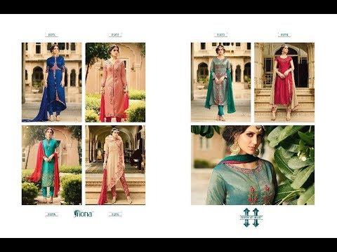 Latest Indian Dresses Collections 2017 || Shree Fashion || FIONA  SAJIYA SILK SUITS 👚👚👚👕👗