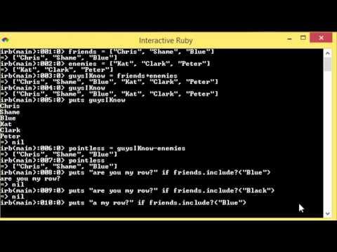 Ruby - 32 - Arrays Include