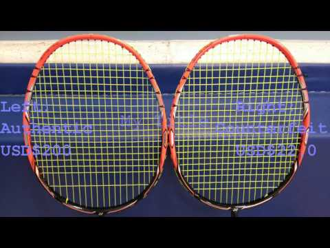 Yonex Nanoray Z-SPEED Counterfeit Racket vs Authentic