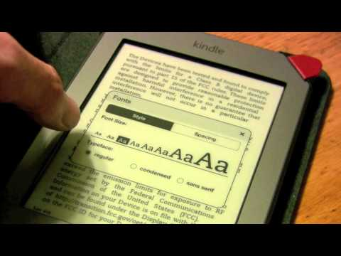 Kindle Touch - Adjusting typeface and line spacing