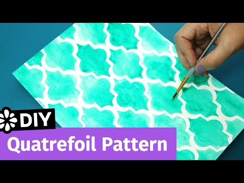DIY Quatrefoil Pattern   Easy Notebook Cover Idea   Sea Lemon