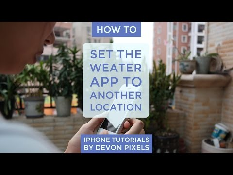 How to Set the Weather App to Another Location on an iPhone - iPhone Tutorial