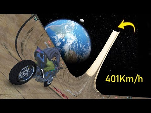 401Km/h A MOTO mais rapida do mundo descendo a maior RAMPA DO MUNDO! (GTA 5 kawasaki ninja h2r)