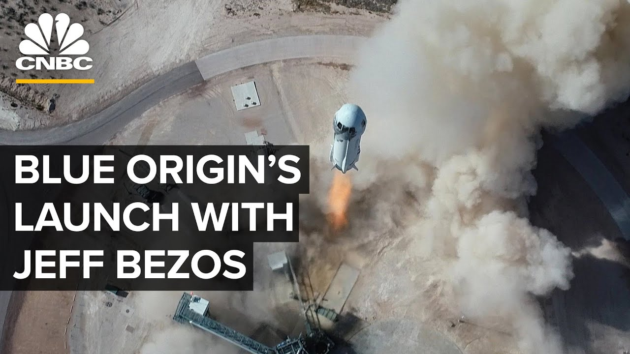 Blue Origin launches first human spaceflight with Jeff Bezos — 7/20/21