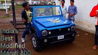 India's Best modified 800 | Modified maruti 800 to jimmy look | MAGNETO11