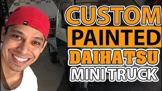 Custom painted daihatsu mini truck