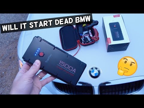 TrekPow JUMP STARTER 1500A Starting a Dead 6 Cylinder BMW Product Review
