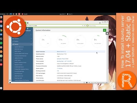 How To install Ubuntu server 17.04 + Static ip + LAMP SERVER + Webmin Admin Panel