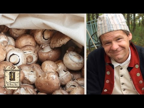 Making Mushroom Ketchup - 18th Century Cooking with Jas. Townsend and Son