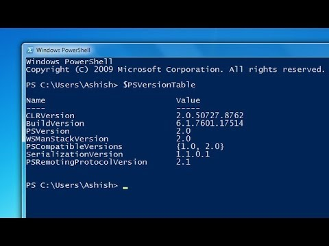 Getting the version of PowerShell on your Operating System