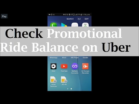 How to check Uber free ride balance (promotional ride balance)
