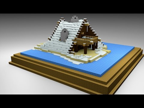 How I built an ICE LAKE HOUSE - minecraft creative
