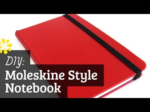 Diy Moleskine Style Notebook Case Bookbinding Tutorial Sea Lemon