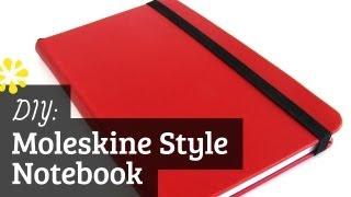 Diy Moleskine Style Notebook Case Bookbinding Tutorial Sea Lemon