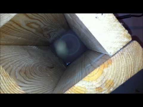 Wooden ball from wooden cube without a lathe