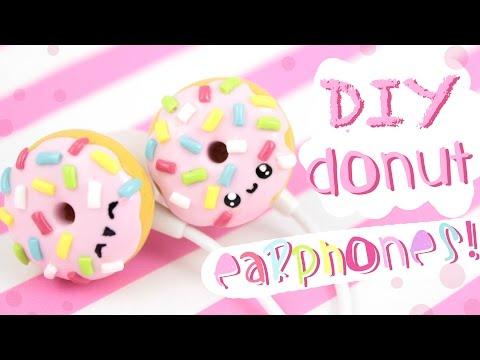 ♡ DIY Donut EARPHONES!  - In Polymer Clay! - ♡ | Kawaii Friday