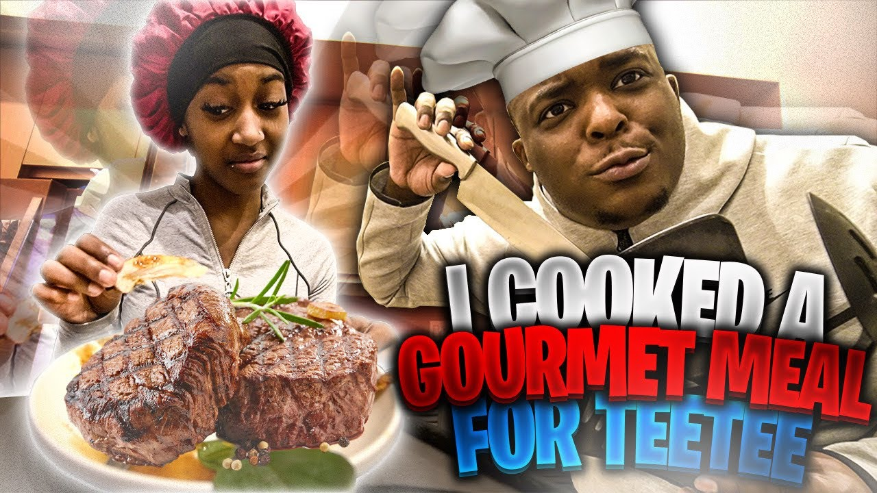 I Taught TeeTee How To Cook A 5 Star Gourmet Meal | Hilarious Reaction