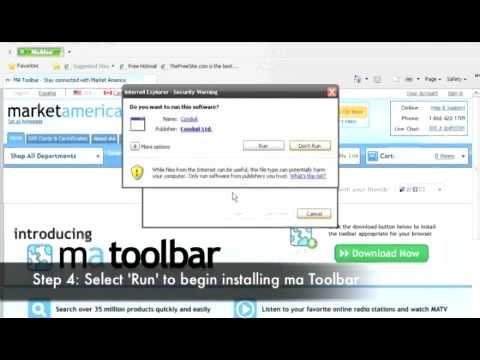 How to: Installing ma Toolbar for Internet Explorer
