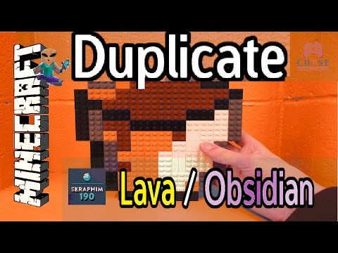 Minecraft : How to Duplicate and mine obsidian without losing your lava bucket! -  Ep 526