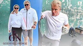 Møt Dolph Lundgren (62) og hans 38 år yngre kjæreste fra Norge!