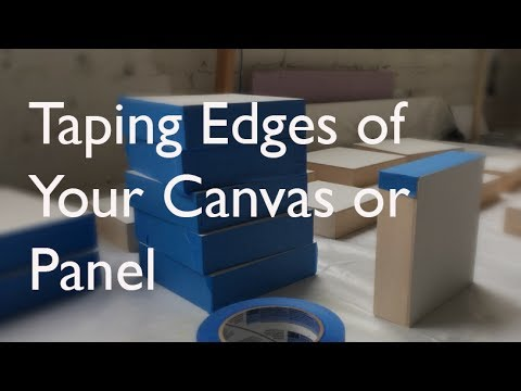 Taping the Edges of Your Painting Surface