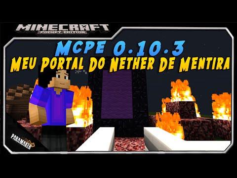 Minecraft Pocket Edition 0.10.3│Meu portal do nether de mentira