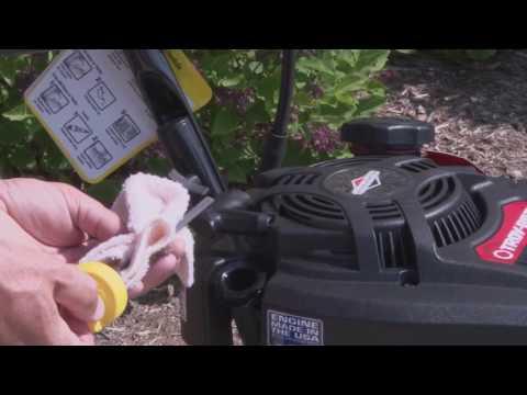 Troy-Bilt® Pressure Washer Setup