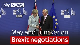 May and Juncker on Brexit negotiations