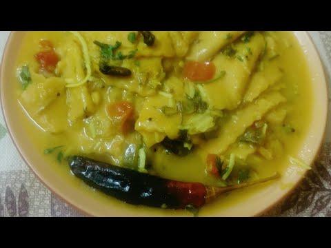 Traditional Gujarati recipe Dal Dhokli/गुजराती दाल ढोकली की विधि/દાળ ઢોકળી ની રીત/