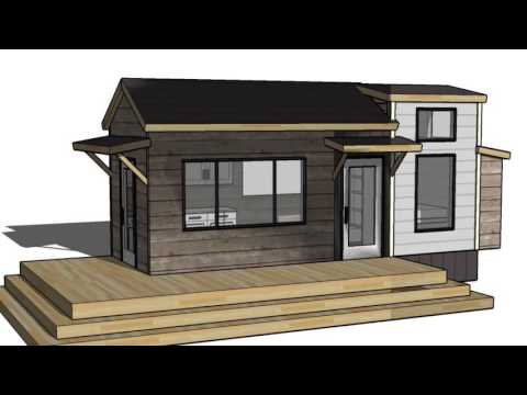 Tiny Vacation Home Design Floorplan Layout with Guest Bed: Ana White Tiny House Build [Episode 1]