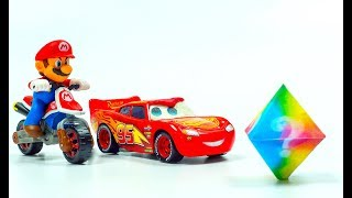 Super Mario Kart Racing - Lightning McQueen Stop Motion GAMING Animation | Cars Toys Movies