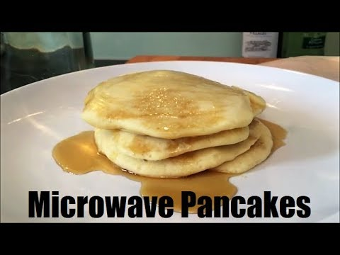 Microwave Pancakes - 4 pancakes cooked in 2.5 minutes! Pancake Day Family Recipe by Theo Michaels