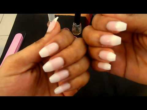 DIY FAKE NAILS AT HOME FOR BEGINNERS | DIY BALLERINA NAILS |GoldQueen Queency
