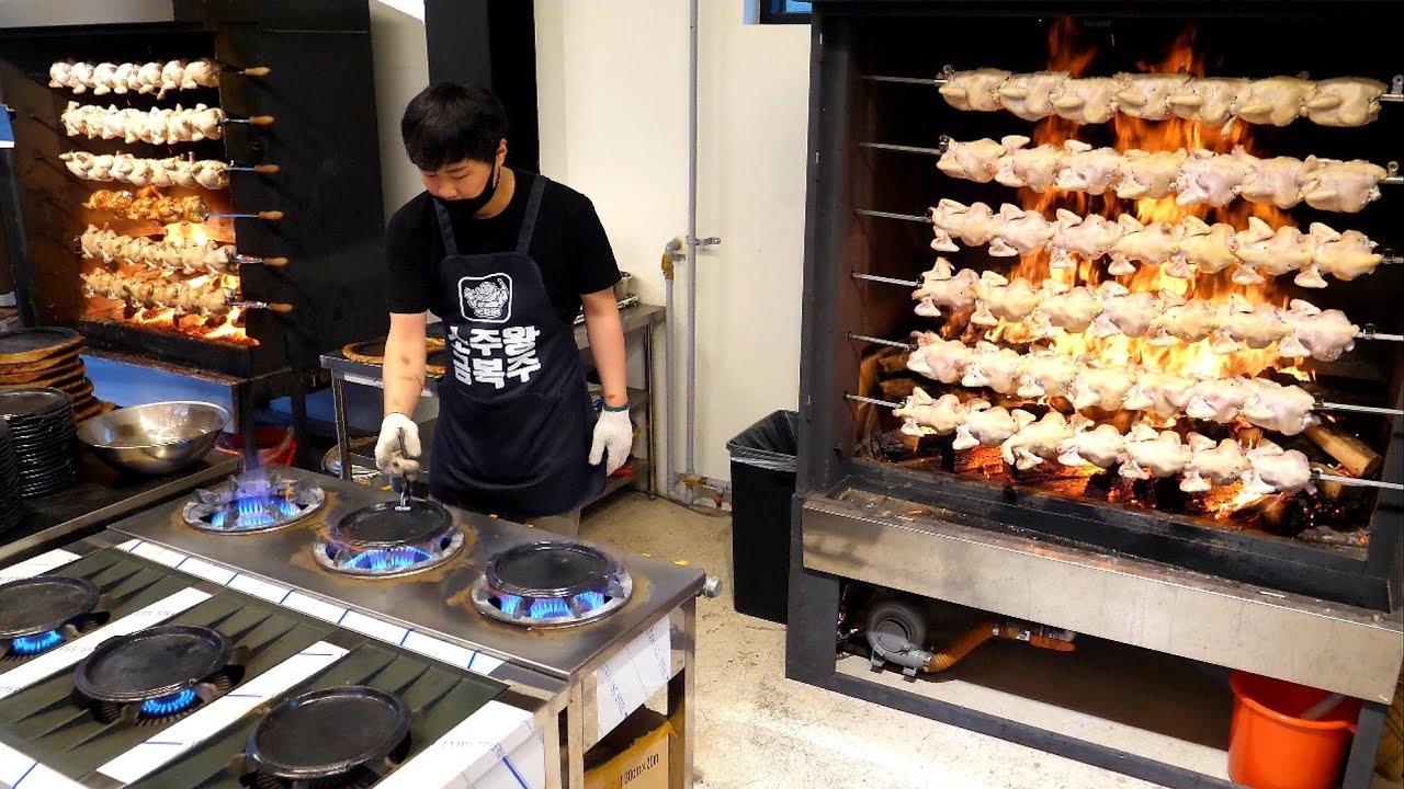 오픈하자마자 대박났죠! 매일 대량생산하는 압도적인 통닭집! Mass production of chicken on an amazing scale - Korean street food