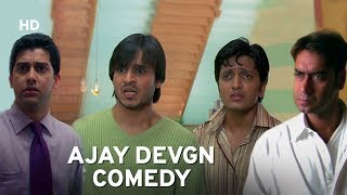 Ajay Devgn 'Serious Cop' | Vivek Oberoi | Aftab | Ritiesh Deshmukh | Hindi Comedy Movie